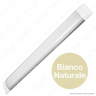 Wiva Tubo LED Prismatico Plafoniera 18W mod. Madeira Lampadina 60cm
