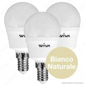 Wiva Tripack Lampadina LED E14 7W MiniGlobo P45 - Confezione 3 Lampadine