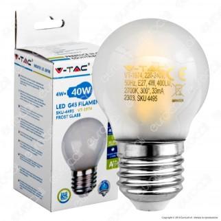 V-Tac VT-1974 Lampadina LED E27 4W MiniGlobo G45 Frost Filamento - SKU 4495 / 4496 / 4497