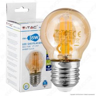 V-Tac VT-1957 Lampadina LED E27 4W MiniGlobo G45 Filamento - SKU 7100