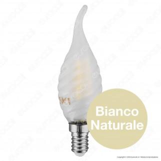 V-Tac VT-1928Lampadina LED E14 4W Candela Frost Twist Filamento - SKU 7108 / 7109