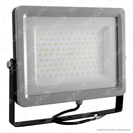 V-Tac VT-48100 Faretto LED SMD 100W Ultra Sottile da Esterno Colore Grigio e Nero - SKU 5765 / 5766 / 5767 [TERMINATO]