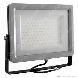 V-Tac VT-48100 Faretto LED SMD 500W Ultra Sottile da Esterno Colore Grigio e Nero - SKU 5765 / 5767