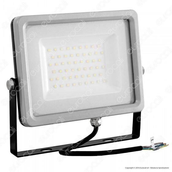 V-Tac VT-4850 Faretto LED SMD 50W Ultra Sottile da Esterno Colore Grigio e Nero - SKU 5763 / 5764
