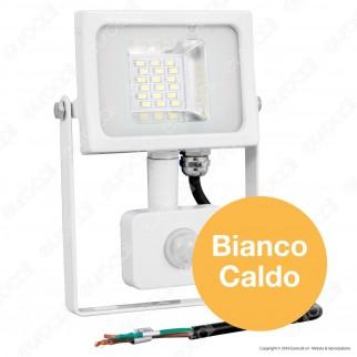 V-Tac VT-4810 PIR Faretto LED 10W Ultra Sottile Slim con Sensore Colore Grigio - SKU 5746 / 5747 / 5748