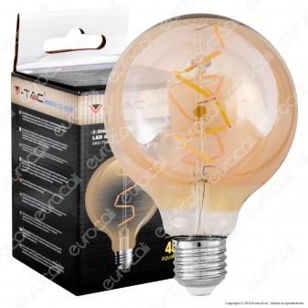 V-Tac VT-2024 Lampadina LED E27 4W Globo G95 Filamento Ambrata - SKU 7146