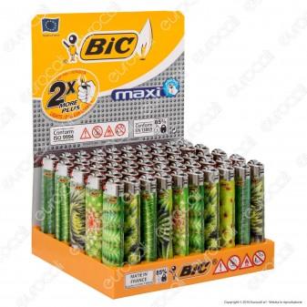 Bic Maxi J26 Grande Fantasia Piante Grasse - Box Da 50 Accendini