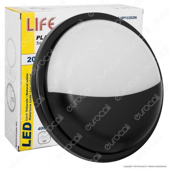 Life Plafoniera LED 20W Forma Circolare Palpebra Colore Nero