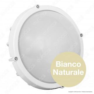 Life Plafoniera LED 12W Bianca Circolare Con Sensore Crepuscolare