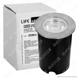 Life Punto Luce LED 4,5W Segnapasso da Interramento - mod. 39.9PL0350C