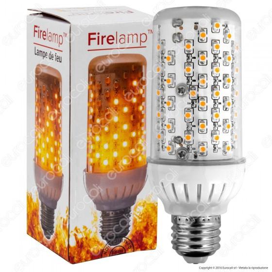 Firelamp Lampadina LED E27 4W 99 LED Copertura Trasparente