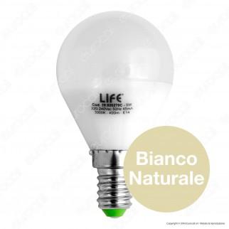 Life Serie 45GF Lampadina LED E14 5W MiniGlobo P45