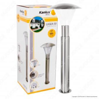 Kanlux LUGEA 50 Portalampada da Giardino con Fissaggio a Terra per Lampadine E27