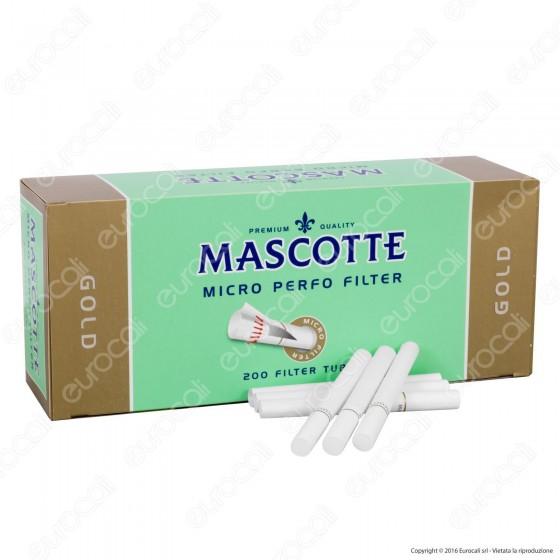 Mascotte Gold Tubetti con Filtro Micro Perfored - Box da 200 Sigarette Vuote