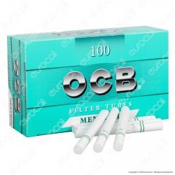 Ocb Tubetti con Filtro al Mentolo - Box da 100 Sigarette Vuote
