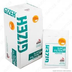 PROV-C00156007 - Gizeh Slim 6mm Al Mentolo - Box 10 Bustine da 120 Filtri