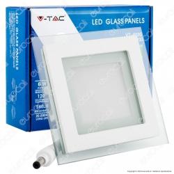 V-Tac VT-602G SQ Pannello LED Quadrato 6W SMD2835 da Incasso - SKU 4738 / 6276 / 4737