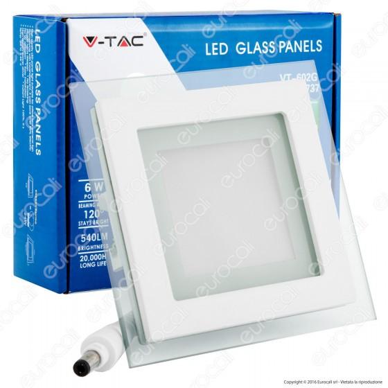 V-Tac VT-602G SQ Pannello LED Quadrato 6W SMD2835 da Incasso - SKU 4738 / 4737