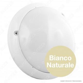 V-Tac VT-8001C Plafoniera LED 16W con Sensore di Movimento a Microonde Colore Bianco - SKU 1281 / 4965 / 1282