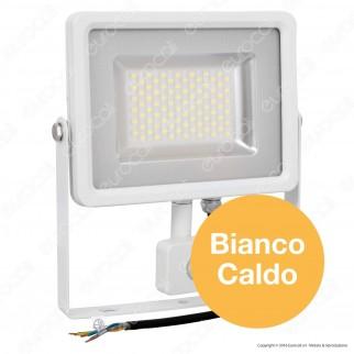 V-Tac VT-4850 PIR Faretto LED 50W Ultra Sottile Slim con Sensore Colore Bianco - SKU 5753 / 5754