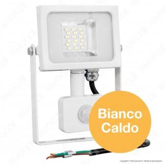 V-Tac VT-4820 PIR Faretto LED 20W Ultra Sottile Slim con Sensore Colore Bianco - SKU 5749 / 5750