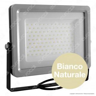 V-Tac VT-48100 Faretto LED SMD 100W Ultra Sottile da Esterno Colore Grigio e Nero - SKU 5765 / 5767