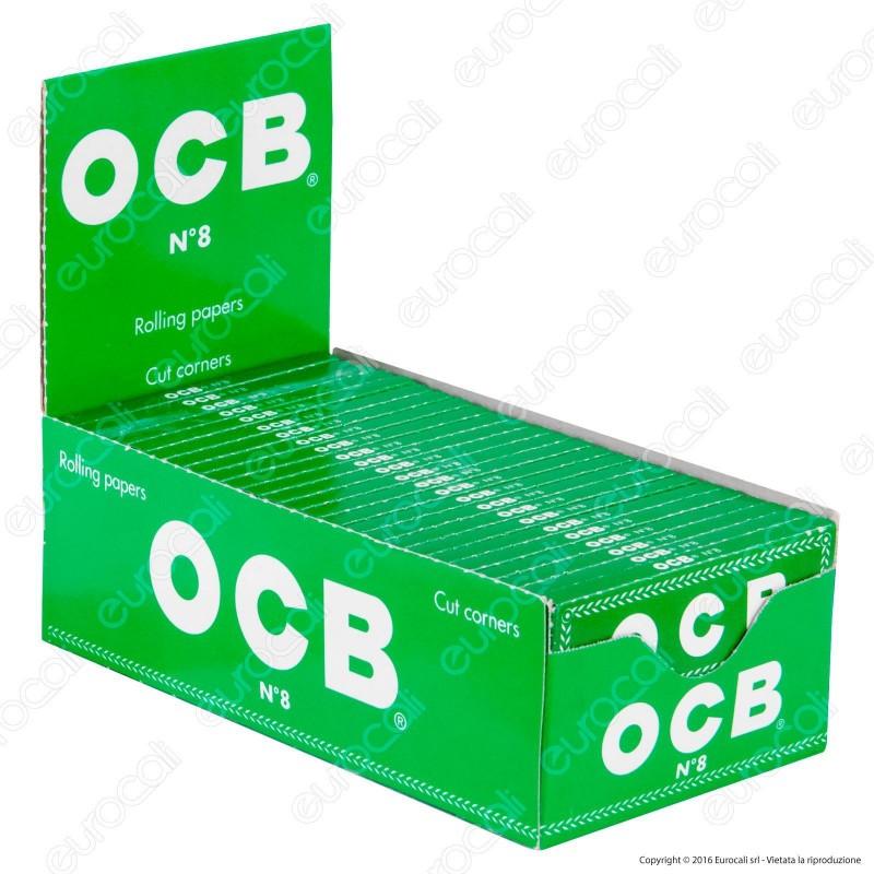 Cartine Ocb Verdi Corte Ecologiche - Scatola da 50 Libretti