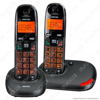 Switel Vita DC 5002 Set di 2 Telefoni Cordless per Portatori di Apparecchi Acustici