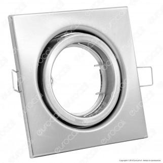 V-Tac VT-7227 Portafaretto Orientabile Quadrato da Incasso per Lampadine GU10 e GU5.3 - SKU 3473