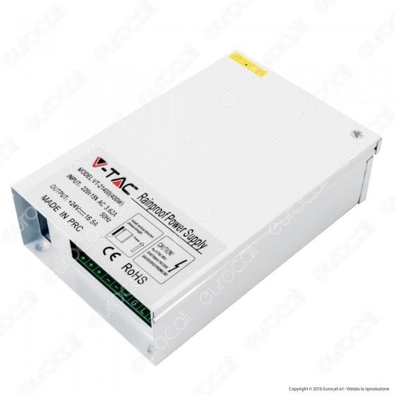 V-Tac Alimentatore 400W 24V Rainproof IP44 a 3 Uscite con Morsetti a Vite - SKU 3077