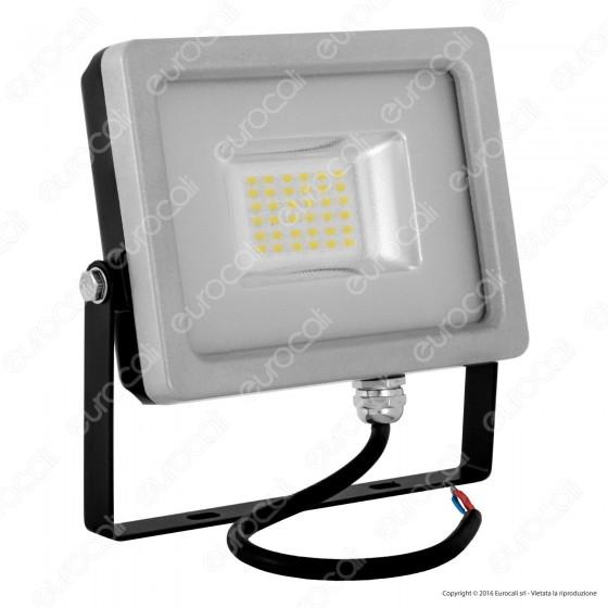 V-Tac VT-4820 Faretto LED SMD 20W Ultra Sottile da Esterno Colore Grigio e Nero - SKU 5703 / 5704 / 5705
