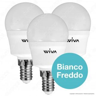 Wiva Tripack Lampadina LED E14 7W MiniGlobo P45 - Confezione 3 Lampadine ⭐️PROMO 3X2⭐️