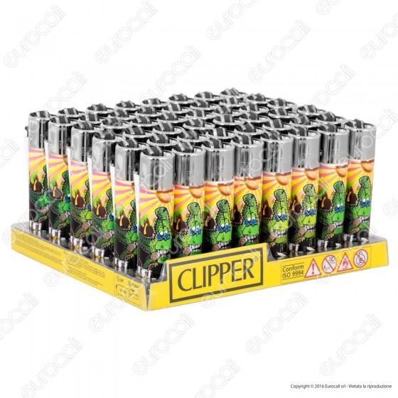 Clipper Large Fantasia Cannabuds 005 - Box da 48 Accendini