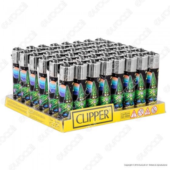 Clipper Large Fantasia Cannabuds 001 - Box da 48 Accendini