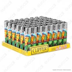 Clipper Large Fantasia Cannabuds 004 - Box da 48 Accendini