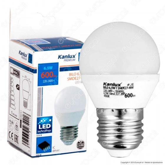 Kanlux BILO Lampadina LED E27 6,5W MiniGlobo G45