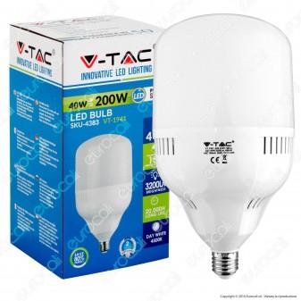 V-Tac VT-1941 Lampadina LED E27 40W Bulb Big Corn - SKU 4382 / 4383 / 4384