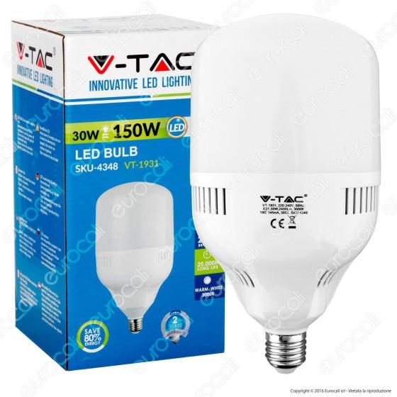 V-Tac VT-1931 Lampadina LED E27 30W Bulb Big Corn - SKU 4348 / 4349 / 4350