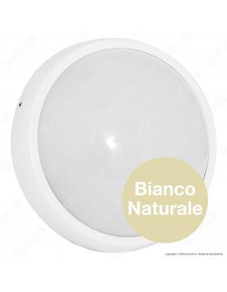 Wiva Plafoniera LED 17W mod. BULK Bianca Forma Circolare IP65