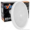 Wiva Plafoniera LED 20W mod. BULK-ALU Bianca Forma Ovale IP54 - mod. 51300008 / 51300009