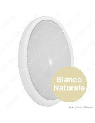 Wiva Plafoniera LED 20W mod. BULK-ALU Bianca Forma Circolare IP54