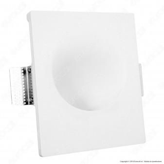 Portafaretto Rettangolare da Incasso in Gesso per Lampadine GU10 e GU5.3 - ART. EXW3013