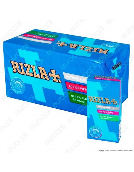 Rizla Ultraslim 5,7mm - Box 20 Scatoline da 120 Filtri