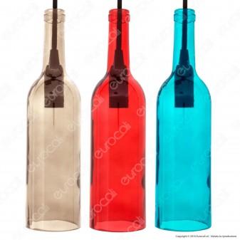 V-TAC VT-7558 Lampadario di Vetro a Forma di Bottiglia con Portalampada per Lampadine E14 - SKU 3768 / 3769 / 3770 / 3771 / 3775