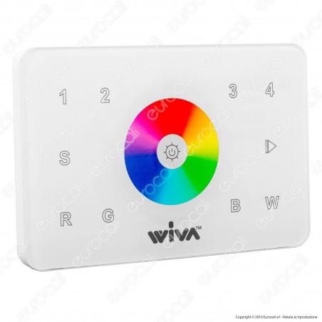 Wiva Telecomando RF da Muro per Centraline LED RGB+W - mod. 62300004