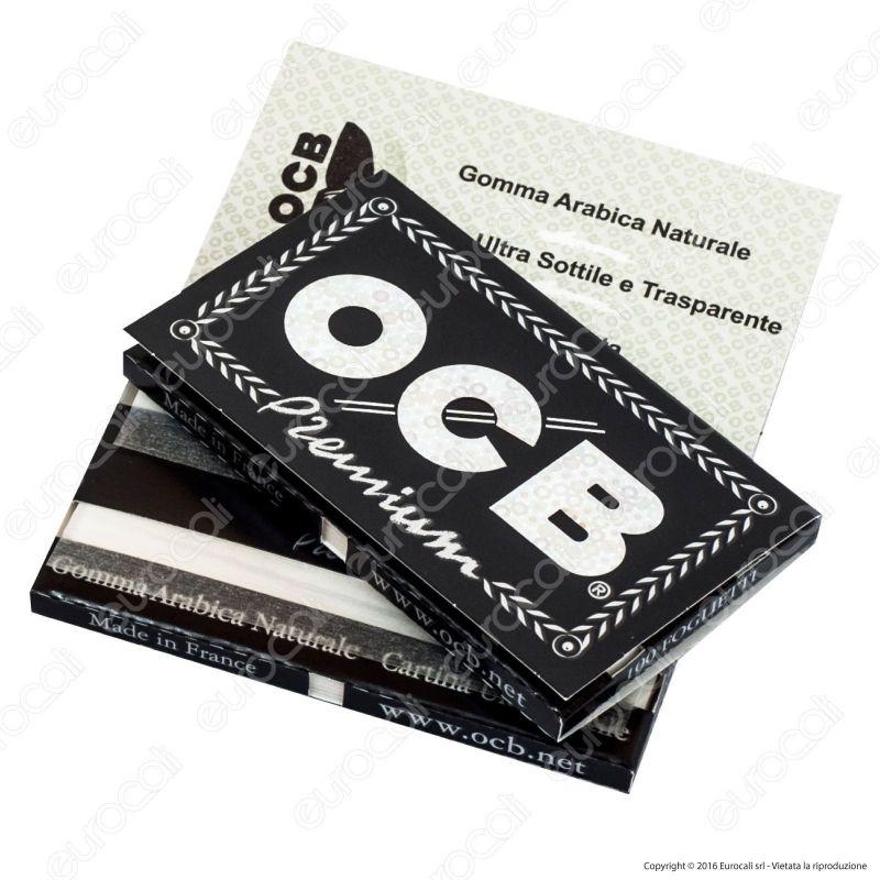 Cartine OCB NERE CORTE doppia PREMIUM DOPPIE 4 box 100 libretti