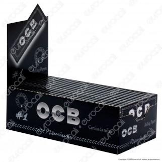 Cartine Ocb Nere Premium Corte - Scatola da 50 Libretti