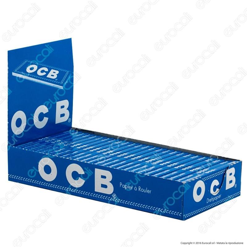 Cartine Ocb Blu Canapa e Lino Corte - Scatola da 25 Libretti