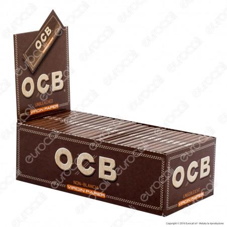 Cartine Ocb Virgin Paper Senza Cloro Corte - Scatola da 50 Libretti