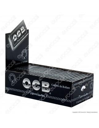 Cartine Ocb Nere Premium Corte Doppie - Scatola da 25 Libretti